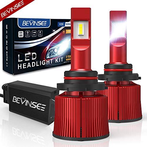 Bevinsee 9005/HB3/H10 LED Headlight Fog Light White 100W 15000LM Bulbs Kit-VC Cooling Tech,2pcs