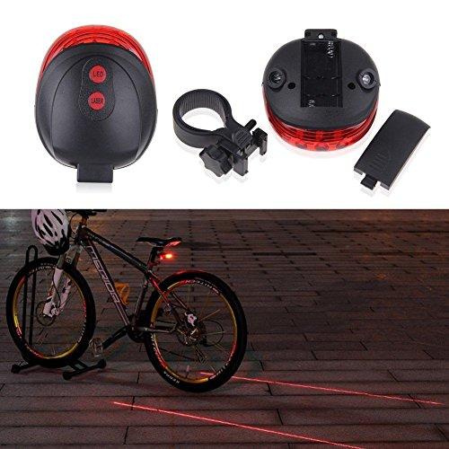 theoutlettablet laser achterlicht LED veiligheidslicht voor fiets AAA batterijen met houder