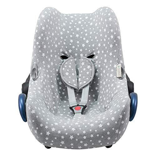 JANABEBE Funda compatible con Maxi Cosi Cabriofix, silla de coche gr 0 (White Star) ⭐