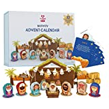 Lovepop Nativity Advent Calendar - 25 Pouches with 32 Pop Up Sculptures - Christmas Advent Calendar for Kids and Adults, Holiday Advent Calendars for Families