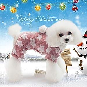 Idepet Manteau Chaud pour Chien Animal Domestique Sweat à Capuche Coton Pull Vêtements pour Chiens de Petite Taille Puppy Teddy Caniche Chihuahua Kitty Chaton