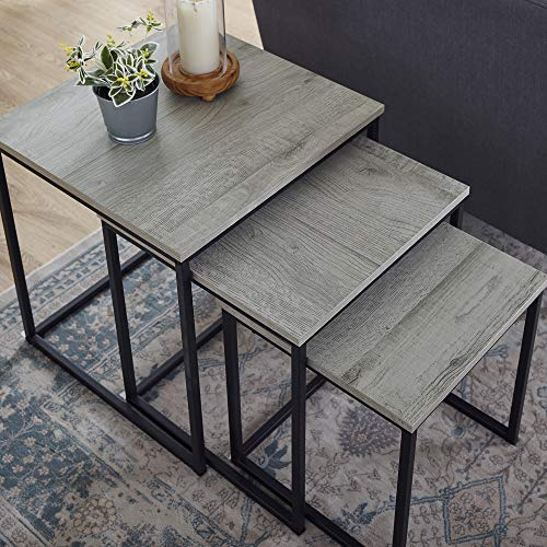 Classic Brands A03133-0452 Bailey Nested End Table-Rustic Grey