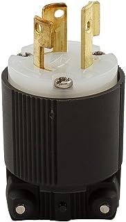 Eaton CWL615P 15 Amp 250V L6-15 Safety Grip Plug, Black & White
