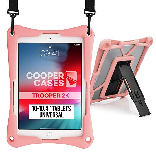Cooper Trooper 2K Rugged Case for 10-10.4'' inch Tablet | Tough Bumper Protective Drop Shock Proof Kids Holder Carrying Cover Bag (Pink)