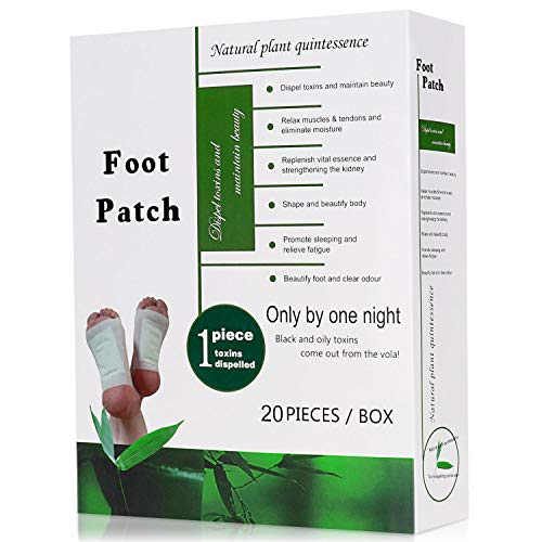 Foot Patches, Nivlan 100% Natural Organic Detox Foot Pads for Pain Relief & Stress Relief & Deep Sleep & Detox Cleanse Weight Loss & Anti Swelling, 20 Pads with 5 scents