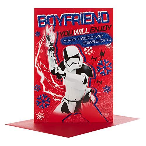 Hallmark 25492728 Star Wars Boyfriend Weihnachtskarte