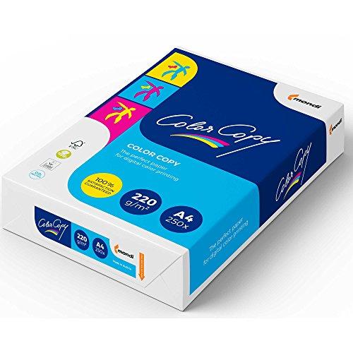 Mondi Color Copy Farbkopierpapier A4 weiß geriest 220 g/qm Inh.250