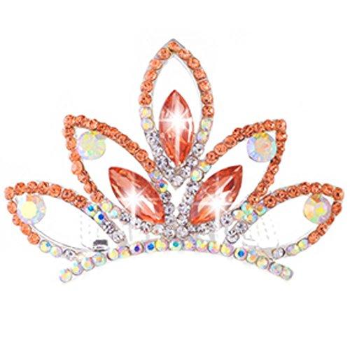 Crystal Crown Elégant Plait Peigne Coiffe nuptiale