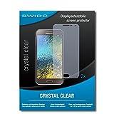 SWIDO Schutzfolie für Samsung Galaxy E5 [2 Stück] Kristall-Klar, Hoher Festigkeitgrad, Schutz vor Öl, Staub & Kratzer/Glasfolie, Bildschirmschutz, Bildschirmschutzfolie, Panzerglas-Folie