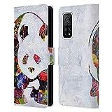 Head Case Designs Licenza Ufficiale Artpoptart Panda Animali Cover in Pelle a Portafoglio Compatibile con Xiaomi Mi 10T PRO 5G
