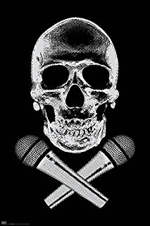 Steez Skull with Microphones Decorative Music Urban Graffiti Hip Hop Art Poster Print 24x36