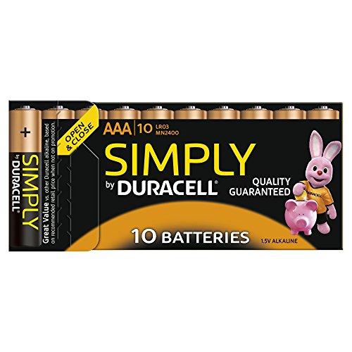 Duracell Batterie Simply -AAA (MN2400/LR03) 10Stück