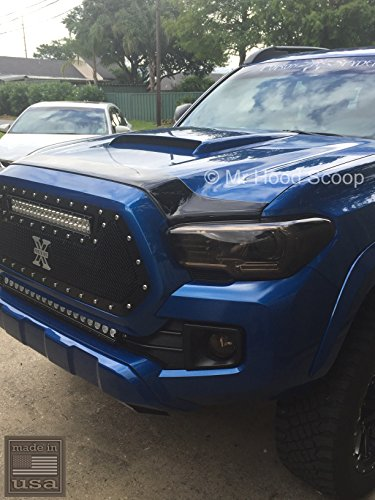 Unpainted Hood Scoop Compatible with Toyota Tacoma Years 1980-2020 by MrHoodScoop HS009