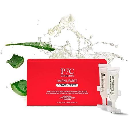 PFC Cosmetics - Ampollas para Crecimiento de Cabello Hairxil Forte Concentrate Tónico para Crecimiento Rápido del Pelo Tratamiento Capilar con Alta ...
