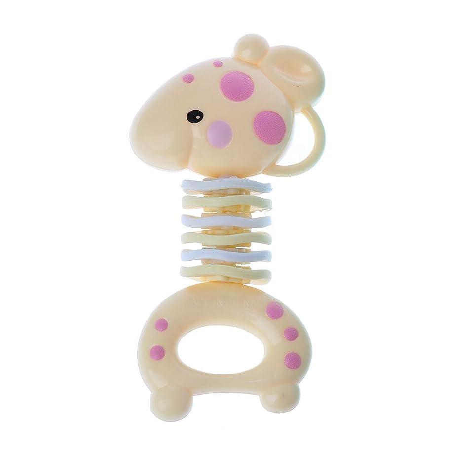 辛い本能公使館Landdumシリコーン歯が生える癒しのおもちゃ赤ちゃんのおしゃぶりスティック固体の歯の赤ちゃんのガラガラのおしゃぶり玩具グッタ臼歯バーベル - カニ