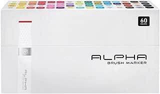 Alpha EF 60er Brush Set Grafikmarker Pens Stifte Set Box Design Marker