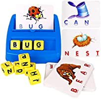 HAPTIME Matching Letter Game, Alphabet Reading & Spelling, Words & Objects Recognition, Learning Toy for Preschooler