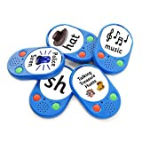 Talking Products, Talking Voice Pads, Reorderable Sound Buttons, 40 Seconds Recording Time, Pack of 5. Ideal for Speaking and Listening Activities and Independent Living.
