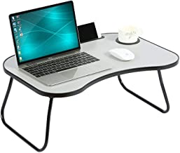 HOME BI Laptop Table Portable Standing Desk, Foldable Sofa Breakfast Tray, Notebook Stand Reading Holder, Bed Writing Desk...