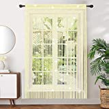 AIZESI 2 paneles de cortina de cuerda, cortina de arco iris, ventana de la pared, puerta de la ventana del panel de la mosca de la pantalla de la mosca, divisor de la habitación