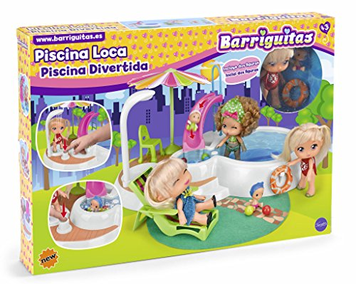 los Barriguitas- Piscina, Multicolor, (Famosa 700014184)