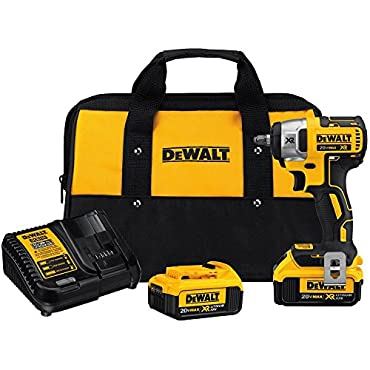 DeWalt 20V MAX XR Cordless Impact Wrench Kit, 3/8 (DCF890M2)