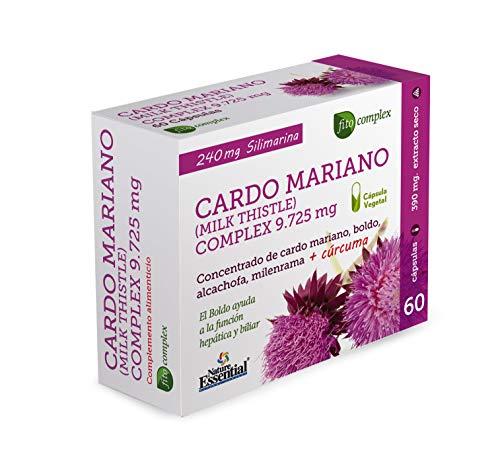 Cardo mariano complex 9.725 mg 60 capsulas con boldo, milenrama, alcachofa y curcuma.