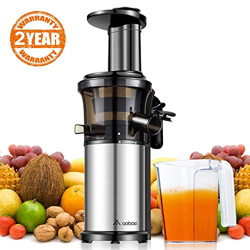 Aobosi Extracteur de Jus de Fruits et Légumes/Compact Extracteur Jus/Presse-agrumes avec poignée portable/Cruche de Jus/fonction...