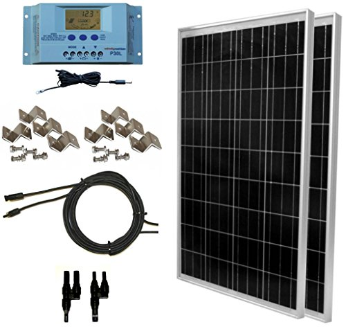 WindyNation 200 Watt Portable Solar Panel Kit