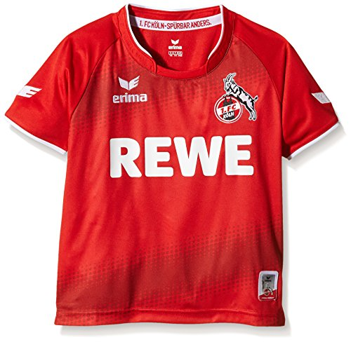 erima Kinder FC Köln Away Trikot inklusive Rewe Logo, Rot, 152