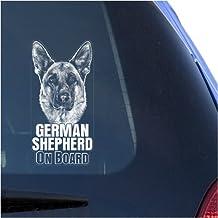 German Shepherd Clear Vinyl Decal Sticker Portrait for Window, Alsatian Dog Sign Art Print