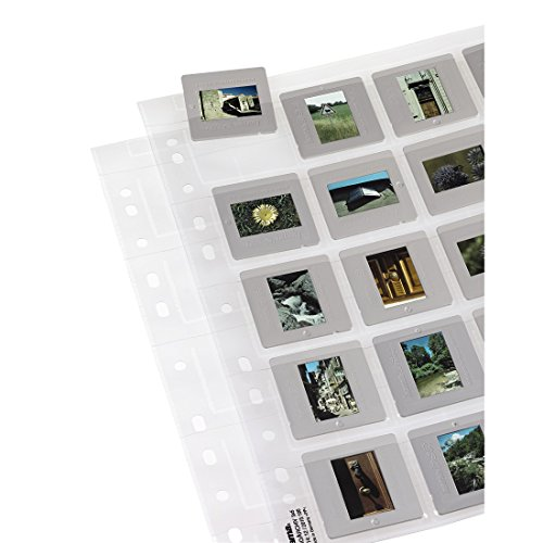 Hama 25 Diahüllen für gerahmte Dias (Dia-Archivierung im Format 5x5cm, bis zu 500 Dias) transparent