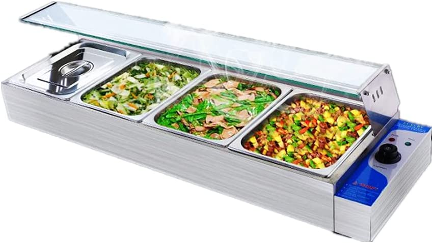 INTBUYING 4 Pan Commercial Indianapolis Mall Food Steam Buffet Countertop T Warmer In a popularity