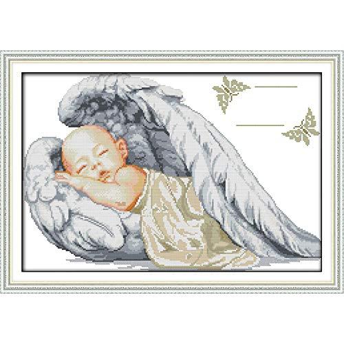 Everlasting Love Weihnachten Kleiner Engel Geburt Ökologische Baumwolle Chinesisch Kreuzstich Kits 14 CT Gestempelt Wird Gewertet Handgemachte Kreuzstich