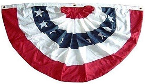 USA Plissé Fan Amerikaanse Vlag Bunting 6x3 Voet Rood Wit Blauw Decoratie Decor
