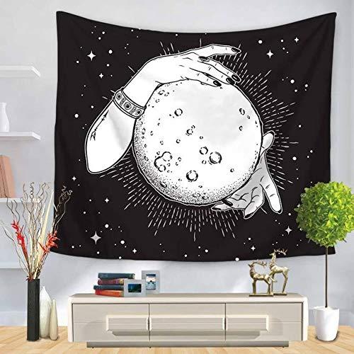 OTXA Psychedelische Tapisserie Konstellation Astronaut Mond Raum Hexe Muster Tapisserie Wandbehang Polyester Stoff Wanddekoration Home