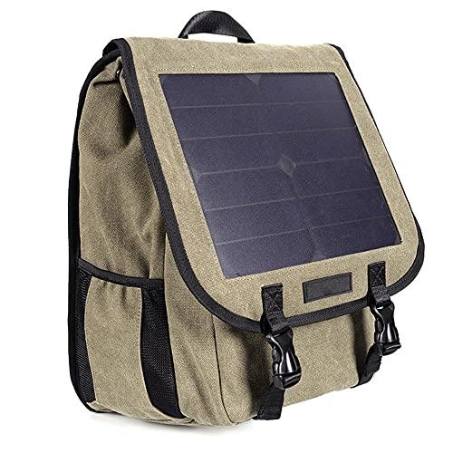 GQYYS Zaino Solare, Zaino con Pannello Solare Integrato da 6 Watt   Impermeabile e Resistente   con Porta USB per ricaricare Laptop, cellulari, Fotocamere, Tablet, powerbank e Altri dispositivi USB