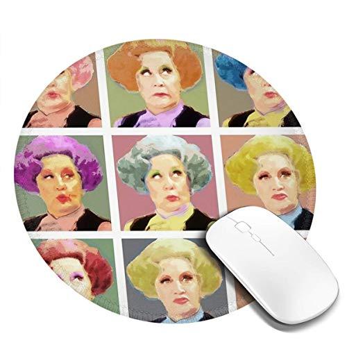 7.9x7.9 In Ronde Muis Pad Grimace Vrouw Met Verschillende Haarkleuren Bureau Toetsenbord Mat Grote Muis Pad Voor Computer Desktop PC Laptop