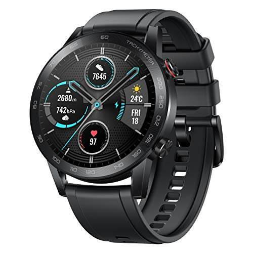 HONOR Magic Watch 2 (46mm, Charcoal Black) 14-Days Battery, SpO2, BT Calling & Music Playback, AMOLED Touch Screen, Personalized Watch Faces, 15 Workout Modes, Sleep & HR Monitor, Smart Assistant