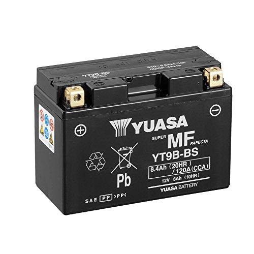 YUASA YT9B-BS-Batteria Combipack, elettroliti)