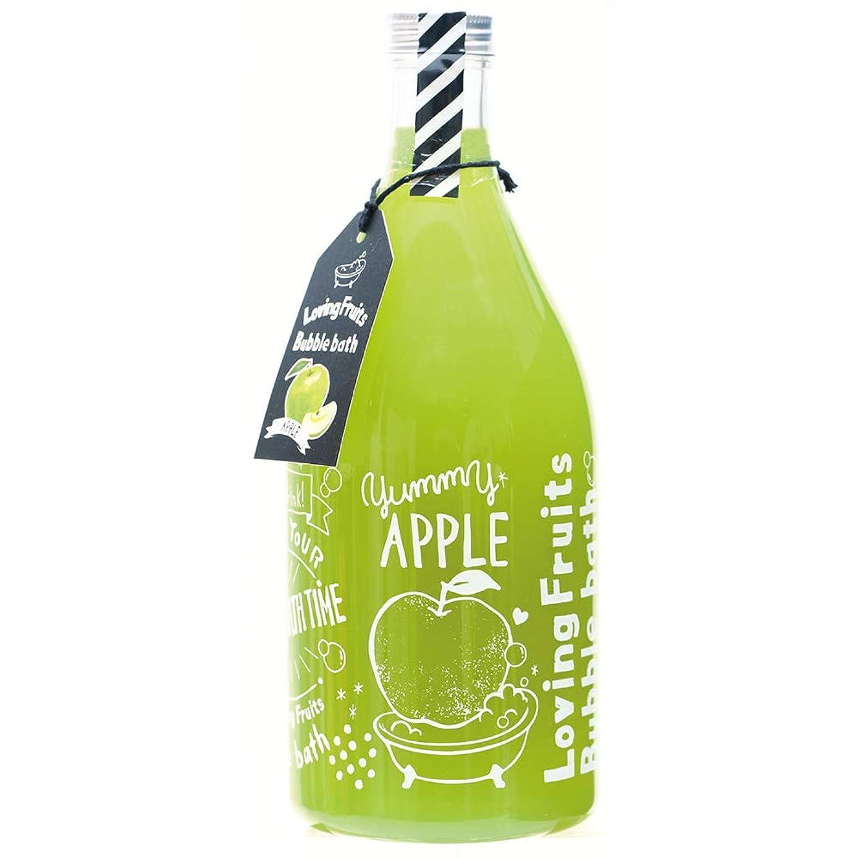 罰挨拶する衣装ノルコーポレーション バスジェル ラビングフルーツバブルバス OB-LFS-1-4 入浴剤 アップルの香り 750ml