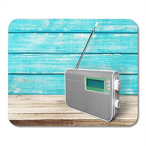Tragbares Radiowecker Hören von Musik Antenne Audio-Rundfunk Kommunikation Auffällige Anti-Rutsch-Gaming-Pads 18X22CM