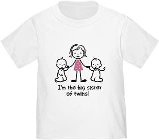 CafePress Big Sister of Twins T-Shirt Toddler Tshirt