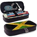 Nuevo estilo Jamaica Grunge país multifunción lona cuero lápiz caso pluma bolsa maquillaje bolsa