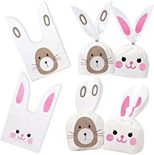 100PCS Candy Gift Wrap Bags Rabbit Ear Bags with Twist Ties Party Favors Supplies