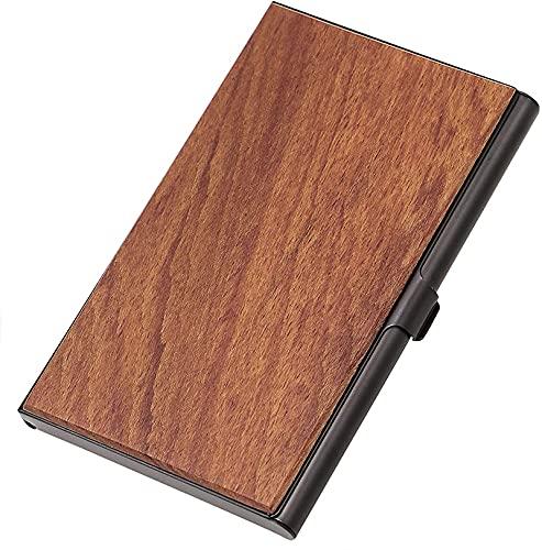 Paquete de tarjeta de visita de madera doble de madera de la caja de tarjeta de visita del banco del negocio del