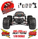 Hosim Large Size 1:10 Scale High Speed 30MPH 4WD 2.4Ghz Remote Control Truck Upgraded 9125 Waterproof RC Offroad Car...