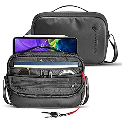 tomtoc Shoulder Bag for 2020 New iPad Pro 11-inch, Messenger Bag for 10.5 inch iPad Air, iPad Pro, 9.7 iPad, Microsoft Surface Go, Crossbody Bag with Smart Organization for Accessories and Essentials from tomtoc