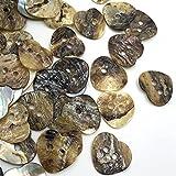 Botones de Ropa 50 PCS Madre de Pearl Heart Costura Botones Scrapbooking 15mm Knopf Bouton Prendas Accesorios PT154 Pulido Fino sin Rebabas.