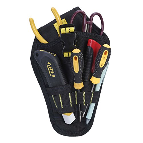ENJOHOS Babimax Werkzeugtasche Werkzeug Gürteltasche stabil 600D Oxford mehrere Fächer für Bauarbeiter Elektriker Mechaniker (ohne Inhalt)